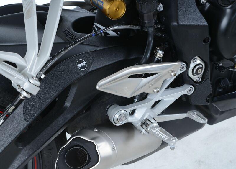 Adhésif anti-frottement R&G RACING repose-pieds passager noir (4 pièces) Triumph