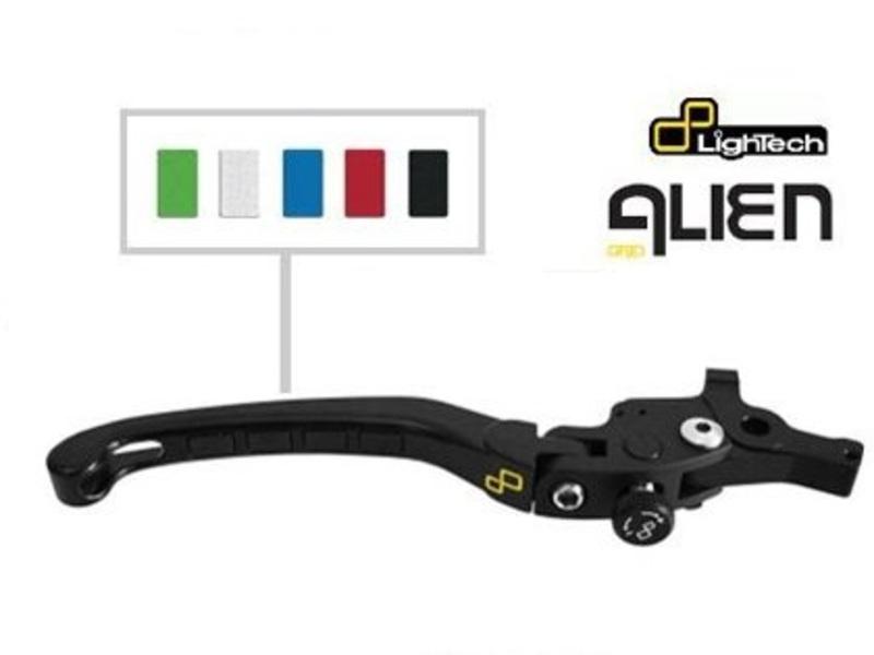 Levier de frein repliable/réglable LIGHTEC Alien alu inserts caoutchouc noir - LEVD011K Kawasaki Z800