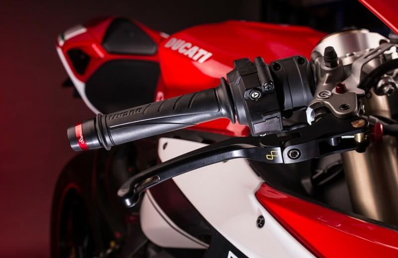 Levier de frein repliable/réglable LIGHTEC Alien alu inserts caoutchouc noir - LEVD124K Kawasaki ZX10R