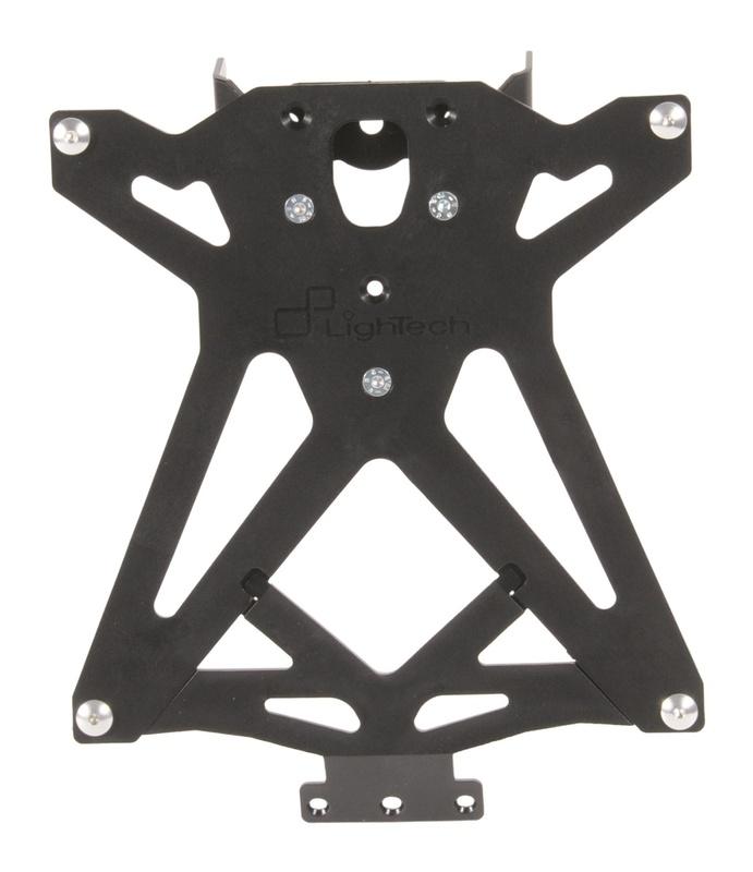 Support de plaque LIGHTECH réglable noir Ducati 848