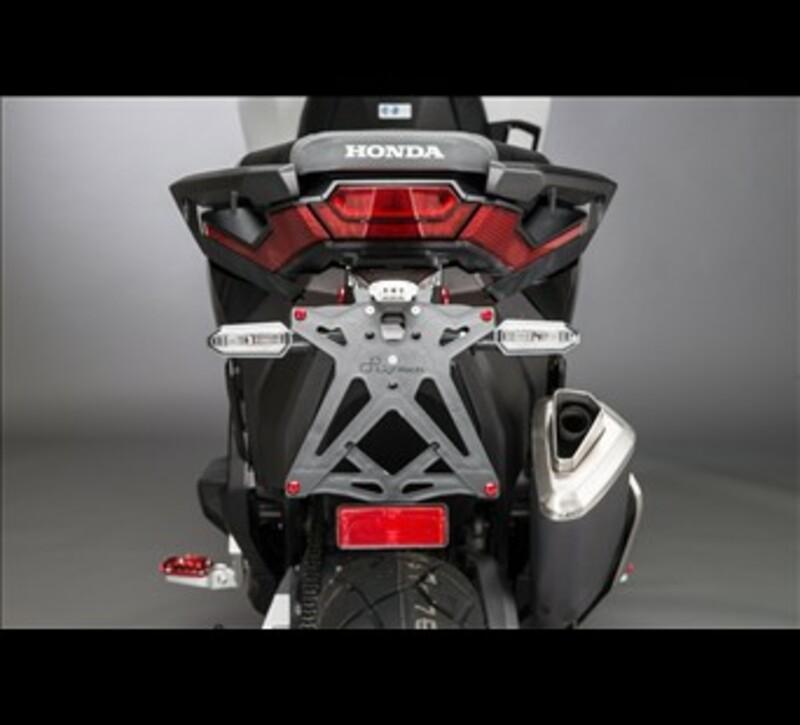 Support de plaque réglable LIGHTECH noir Honda X-Adv