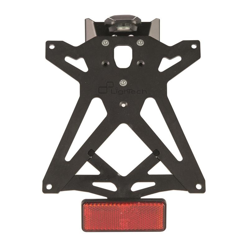 Kit support de plaque réglable LIGHTECH noir Kawasaki Ninja 125