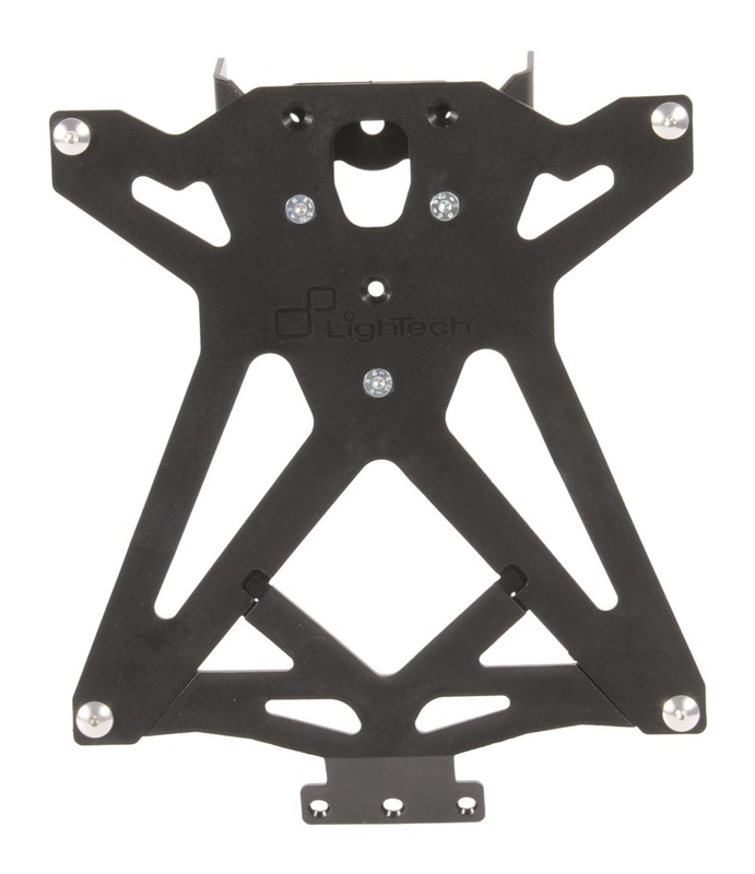 Support de plaque LIGHTECH réglable noir Yamaha T-Max
