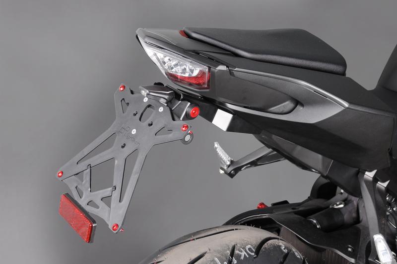 Support de plaque réglable LIGHTECH noir Honda CBR1000RR