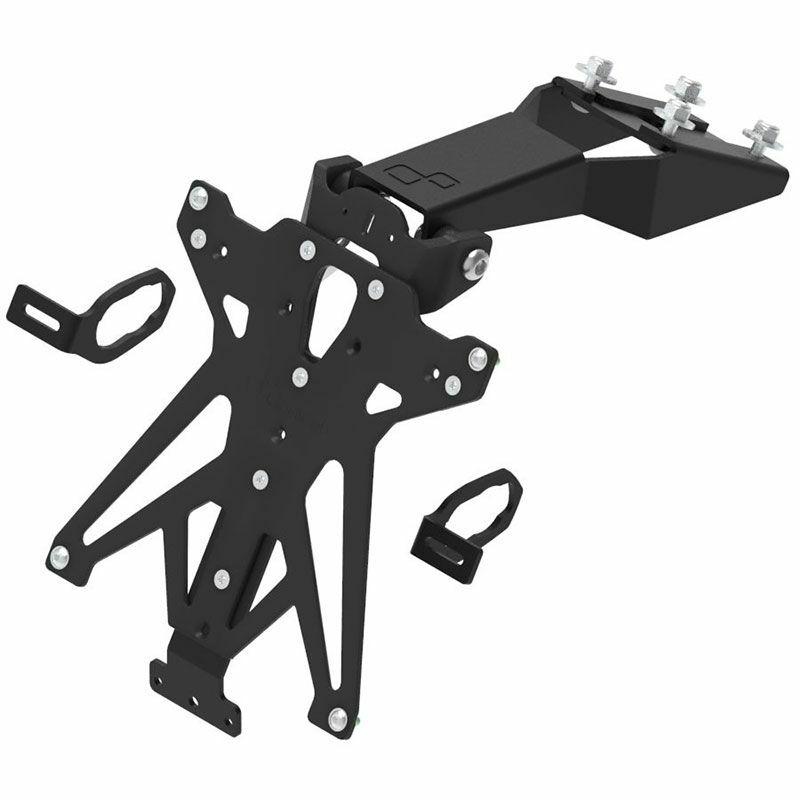 Support de plaque LIGHTECH réglable noir Kawasaki Z650