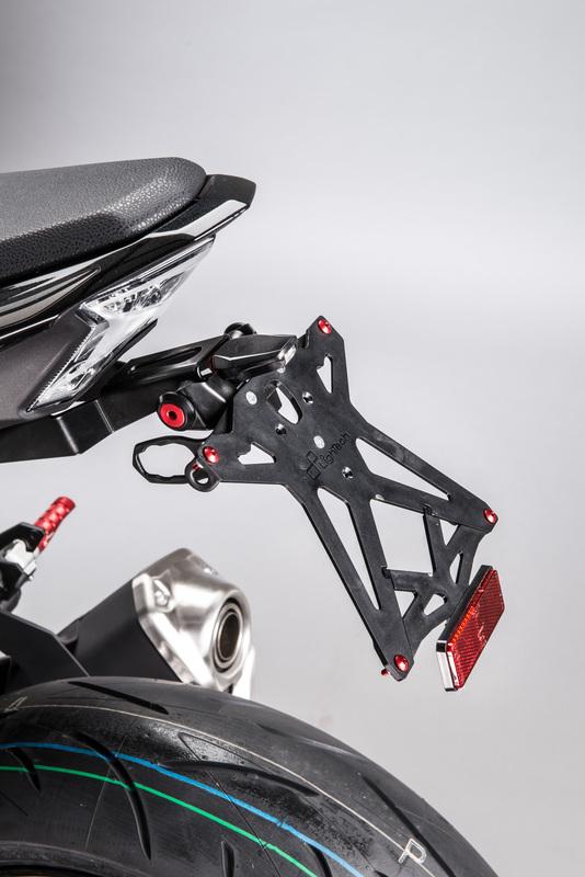Support de plaque LIGHTECH noir Kawasaki Z900