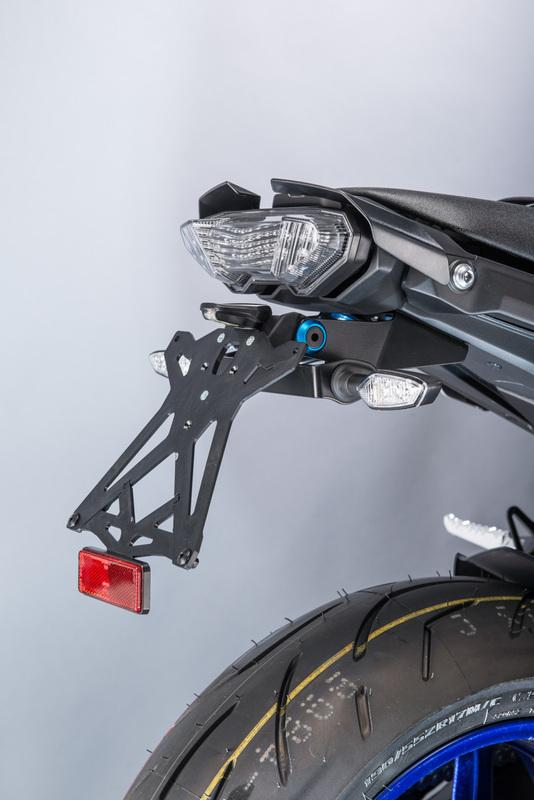 Support de plaque réglable LIGHTECH noir Yamaha MT-10 - TARYA121