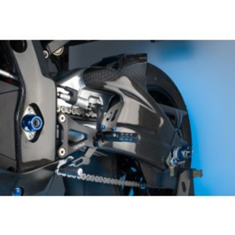 Garde boue arrière LIGHTECH carbone brillant Suzuki GSXR 1000