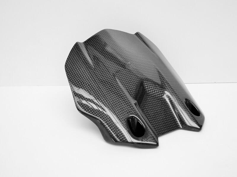 Garde boue arrière LIGHTECH carbone brillant Yamaha Yzf-R1