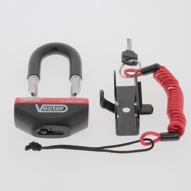 Antivol bloque-disque VECTOR MiniMax+ (Homologué SRA) Ø16mm/47X40mm
