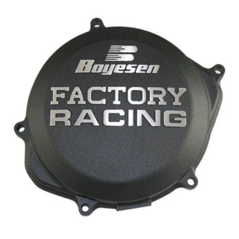 Couvercle de carter d'embrayage BOYESEN Factory Racing noir Honda CRF450R/RX