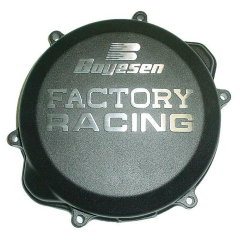 Couvercle de carter d'embrayage BOYESEN Factory Racing noir Honda CRF450X