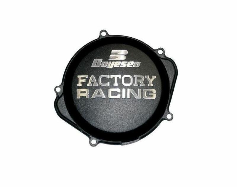Couvercle de carter d'embrayage BOYESEN Factory Racing noir Suzuki RM-Z450