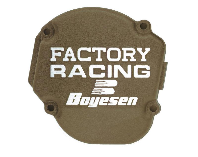 Couvercle de carter d'embrayage BOYESEN Factory Racing magnésium Kawasaki KX450