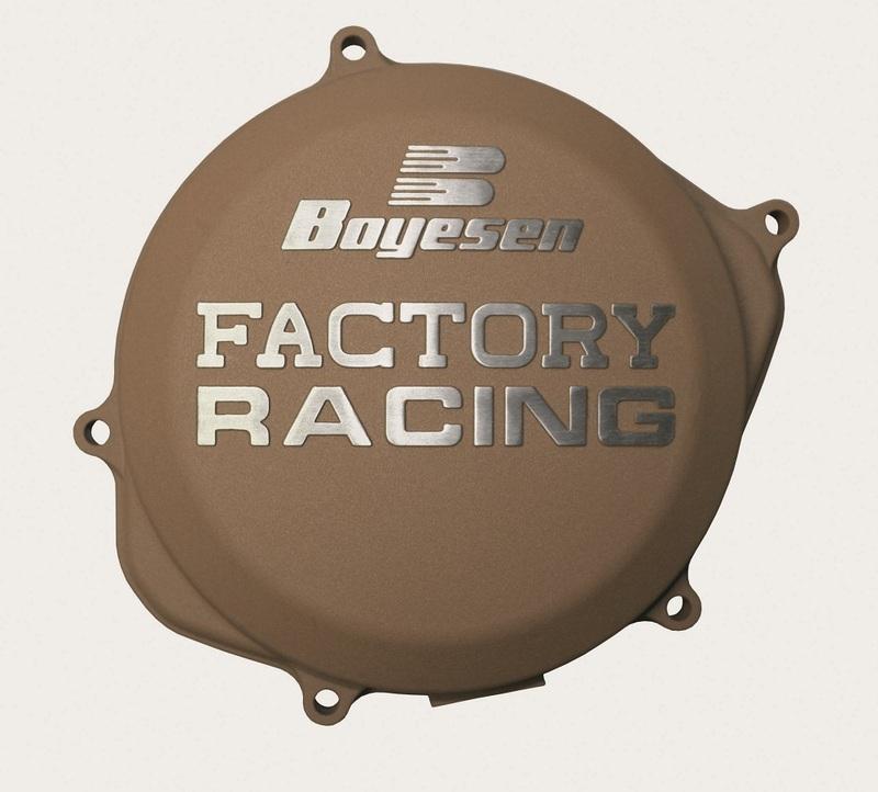 Couvercle de carter d'embrayage BOYESEN Factory Racing magnésium Yamaha YZ125