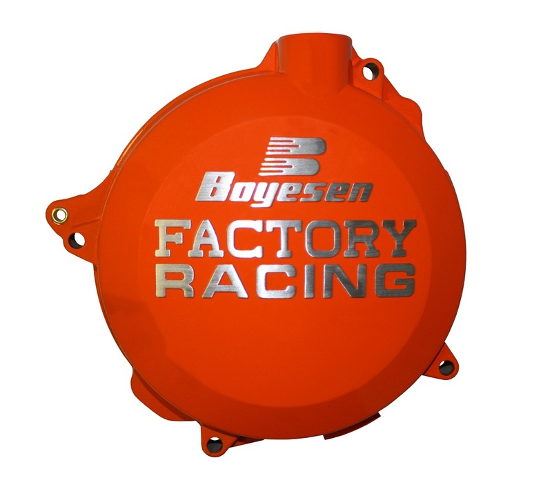 Couvercle de carter d'embrayage BOYESEN Factory Racing orange KTM EXC450/500