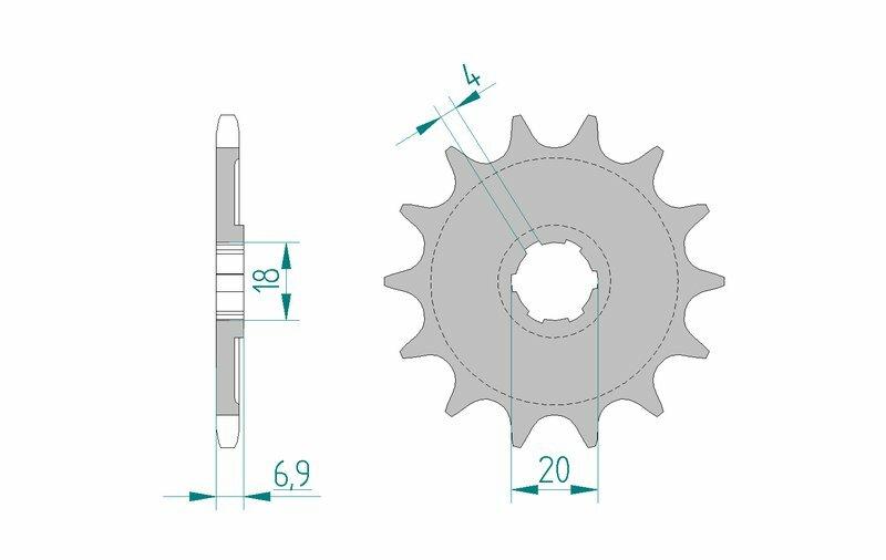 Pignon AFAM acier standard 20204 - 520