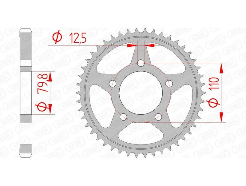 Couronne AFAM acier standard 86600 - 530
