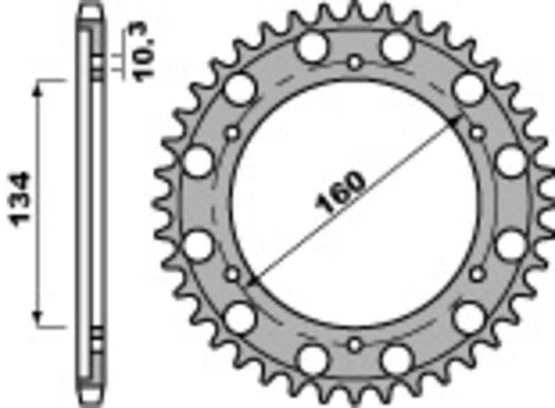 Couronne PBR acier standard 4399 - 530
