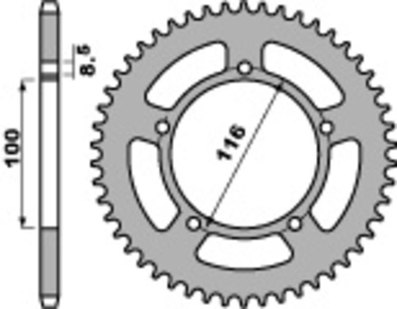 Couronne PBR acier standard 464 - 420