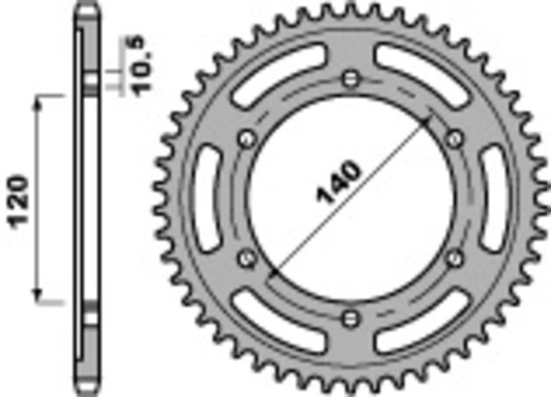 Couronne PBR acier standard 498 - 530
