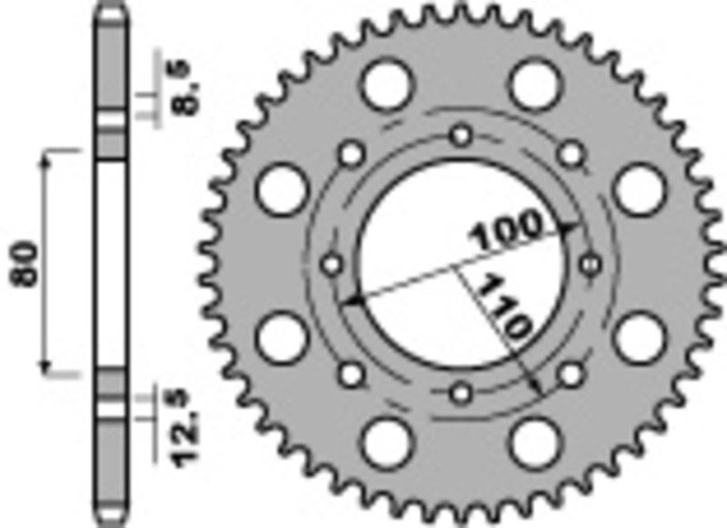 Couronne PBR acier standard 819 - 520