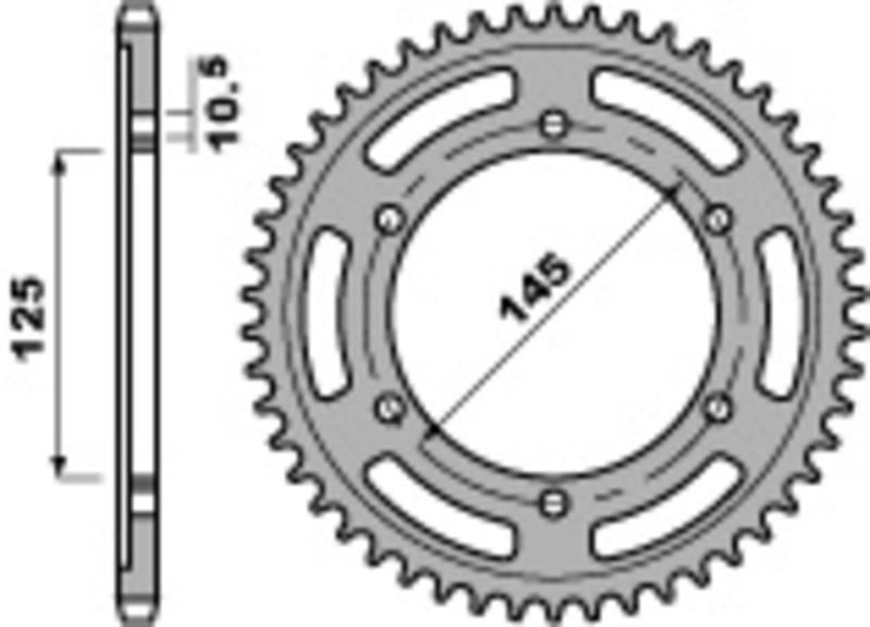 Couronne PBR acier standard 865 - 530