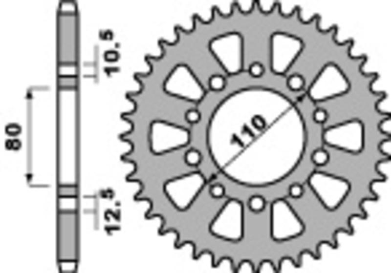 Couronne PBR acier standard 334 - 530