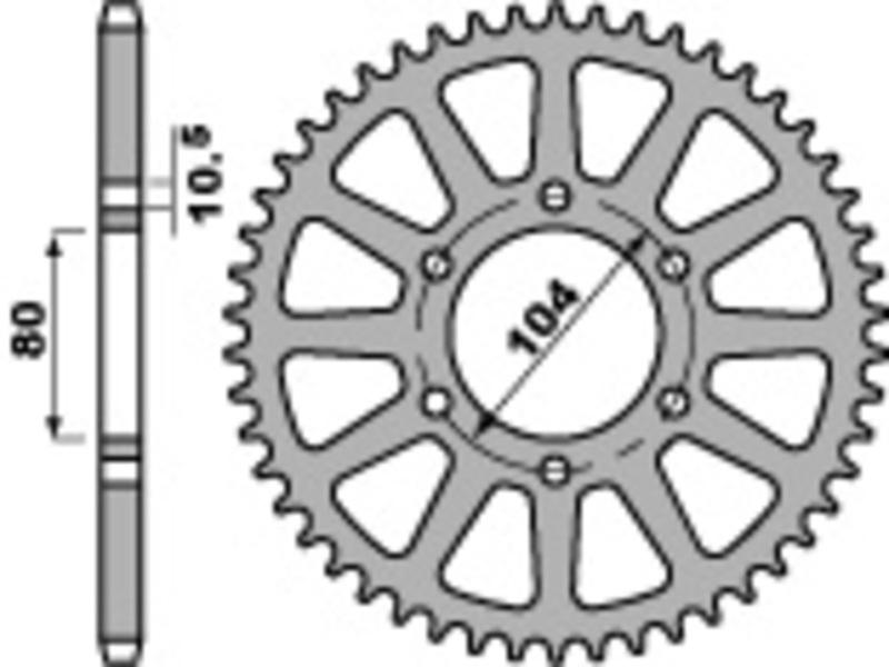 Couronne PBR acier standard 478 - 520