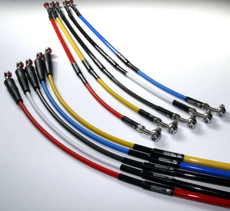 Durite de frein avant VENHILL noir/raccord inox Yamaha YZ125/250/250F/250X/450F