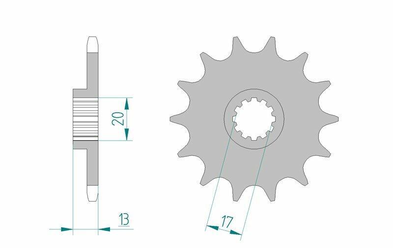 Pignon AFAM acier standard 94215 - 520