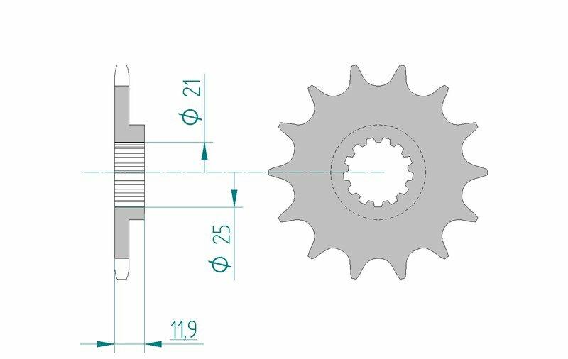 Pignon AFAM acier standard 94314 - 520