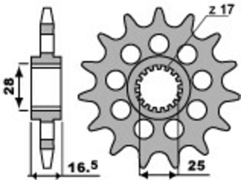 Pignon PBR acier standard 2309 - 525