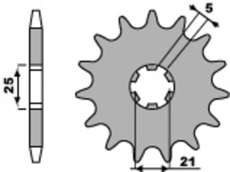 Pignon PBR acier standard 569 - 520