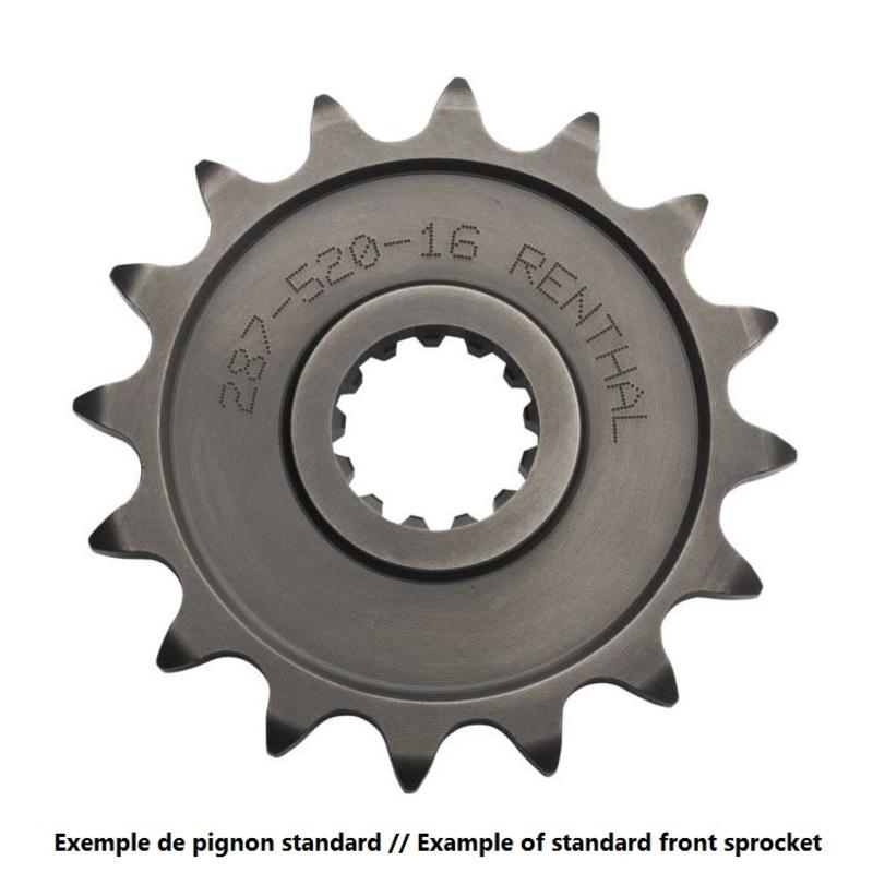 Pignon RENTHAL acier standard 253 - 520