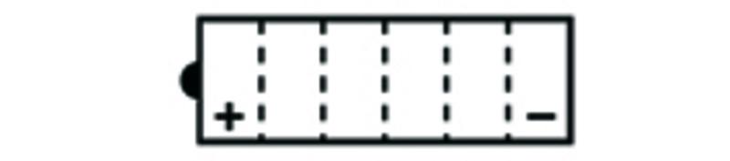 Batterie TECNIUM conventionnelle avec pack acide - BB14A-A2