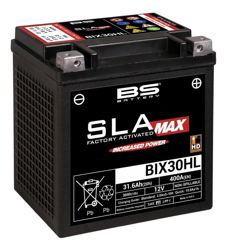 Batterie BS BATTERY SLA Max sans entretien activé usine - BIX30HL
