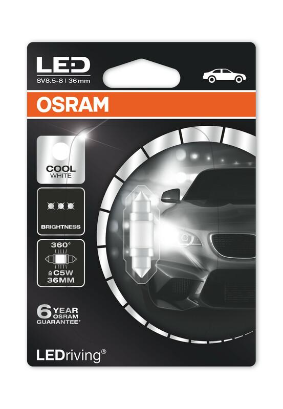 Ampoule OSRAM LED Premium Retrofit Cool White C5W 12V 1,4W - x1
