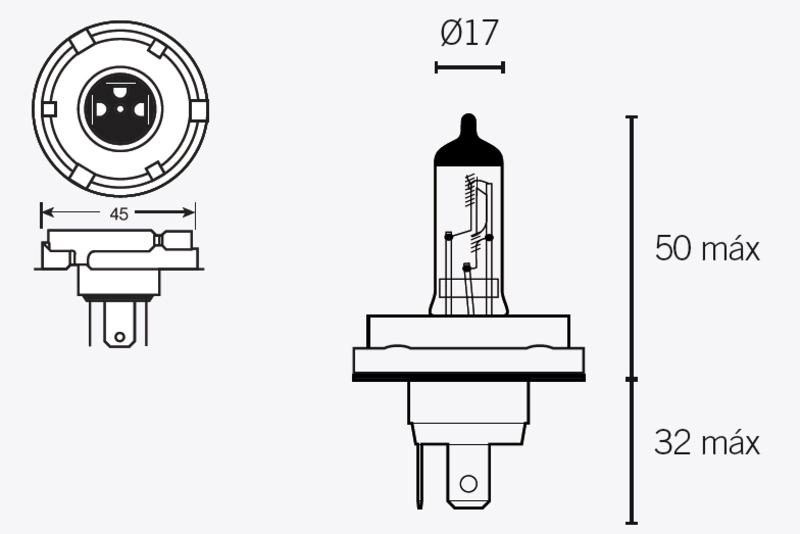 Ampoule TECNIUM H5 12V 60/55W - x10