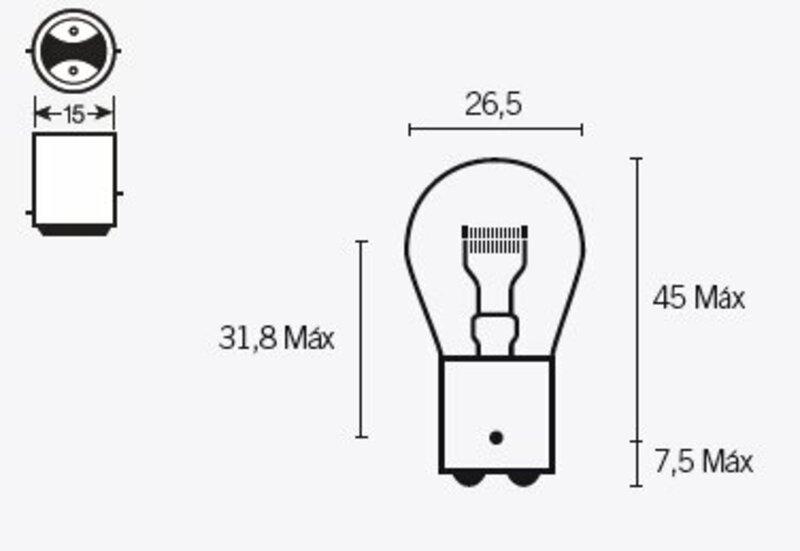 Ampoule TECNIUM P21 6V 21/5W - x10