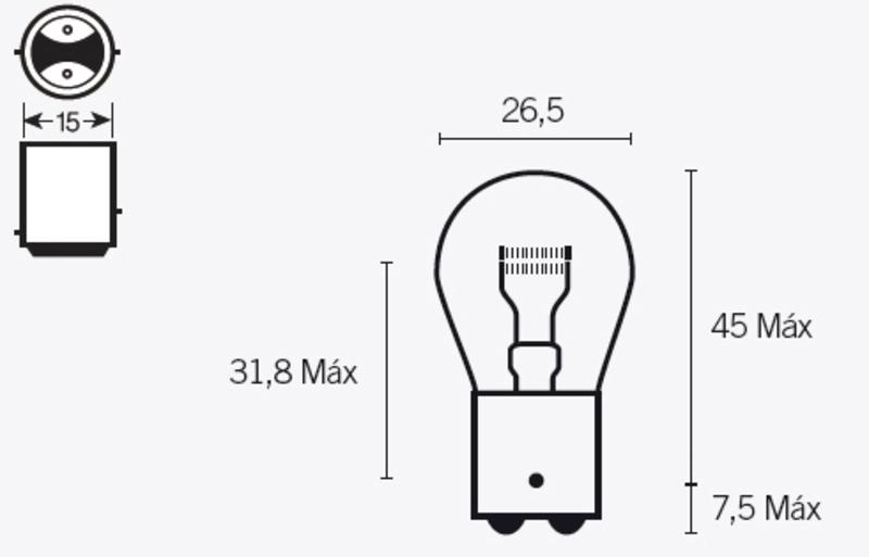 Ampoule TECNIUM S25 12V 21/5W - x10