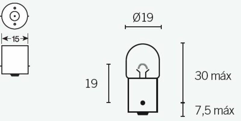 Ampoule TECNIUM R5 12V 5W - x10