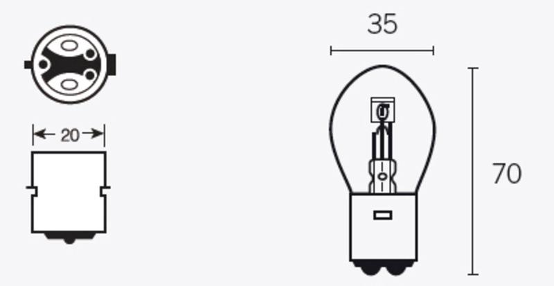 Ampoule TECNIUM S2 12V 40/45W - x10