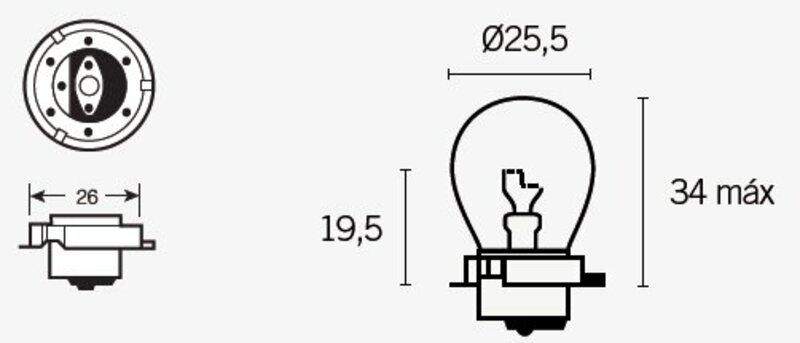 Ampoule TECNIUM SB25 12V 15W - x10