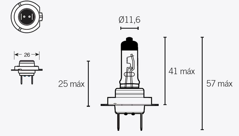 Ampoule V PARTS H7 12V 55W