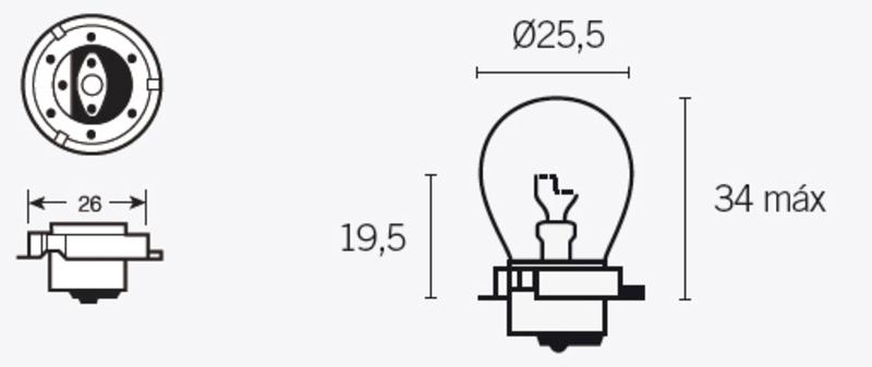 Ampoule V PARTS S3 6V 15W - x10
