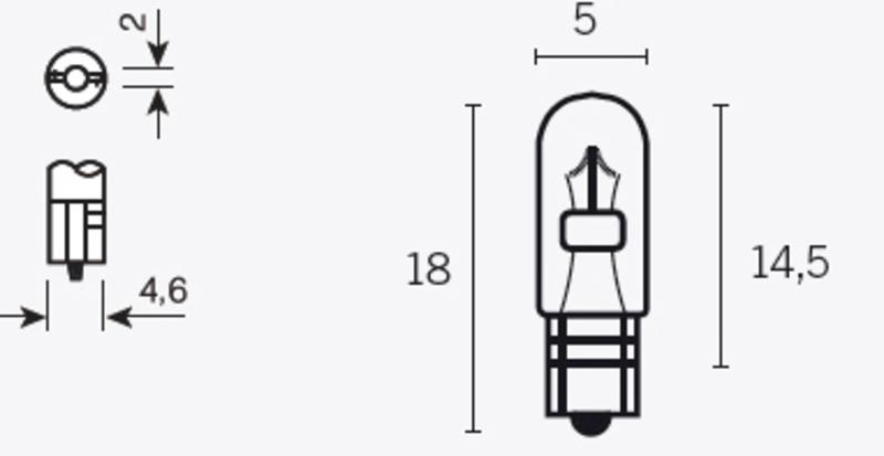Ampoule V PARTS T5 12V 1,2W - x10
