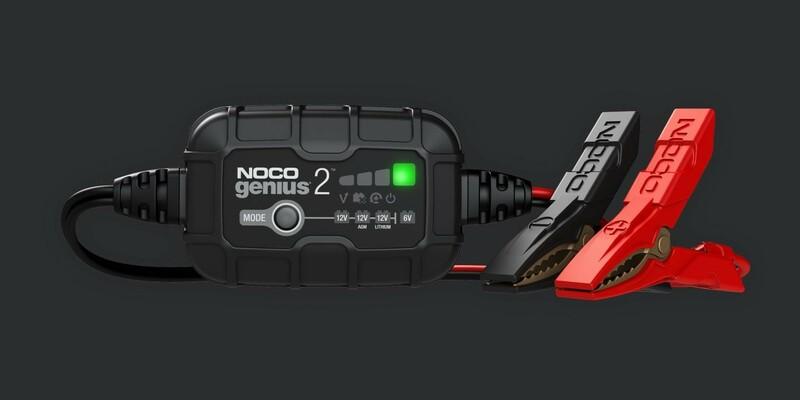 Chargeur de batterie intelligent montage avec pinces NOCO Genius 6/12V 2A
