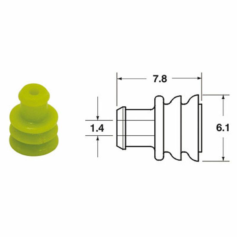 Joints silicone générique BIHR Ø1,4mm jaune