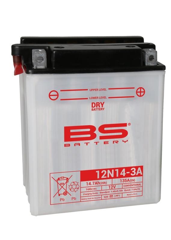 Batterie BS BATTERY conventionnelle avec pack acide - 12N14-3A